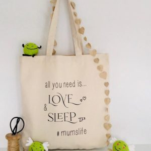 love and sleep bag
