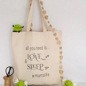 love and sleep bag