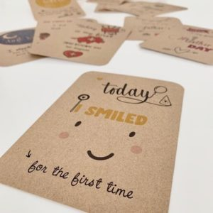 Smile - baby milestone card
