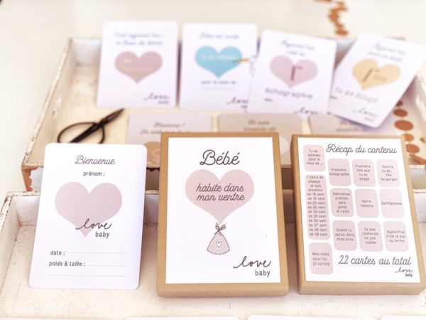 Cartes étapes grossesse